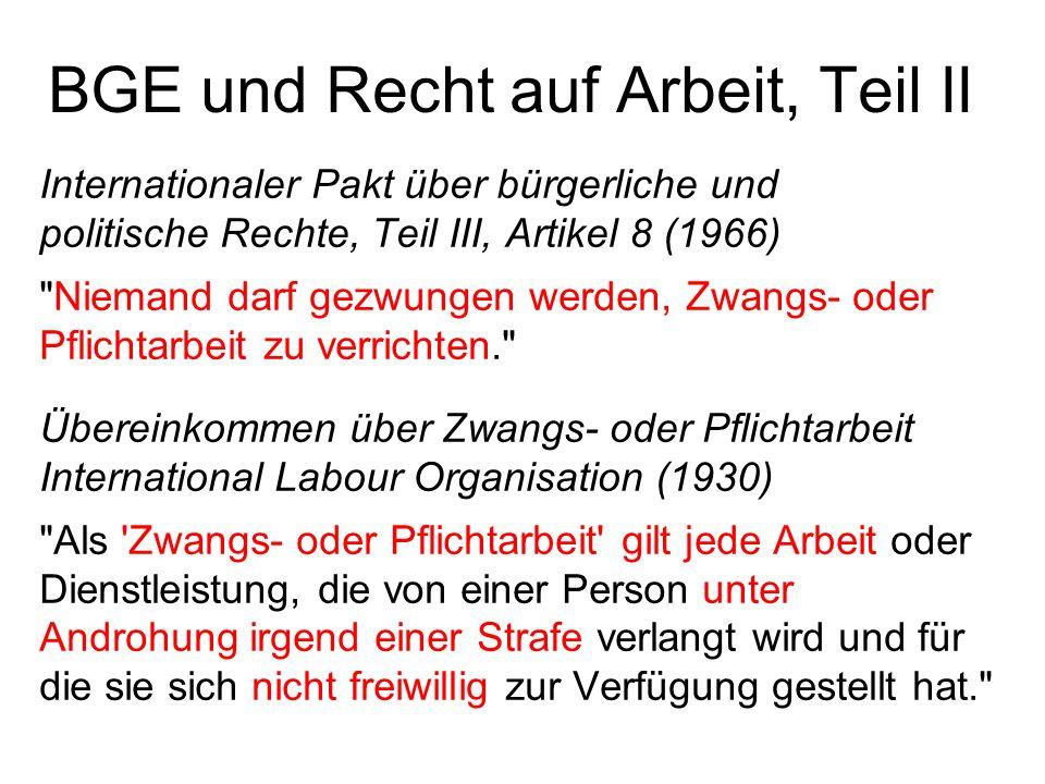 BGE und Recht auf Arbeit, Teil II Internationaler Pakt über bürgerliche und politische Rechte, Teil III, Artikel 8 (1966)