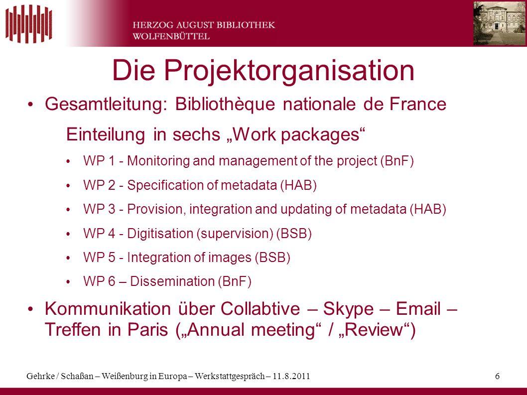 Gehrke / Schaßan – Weißenburg in Europa – Werkstattgespräch – 11.8.201117