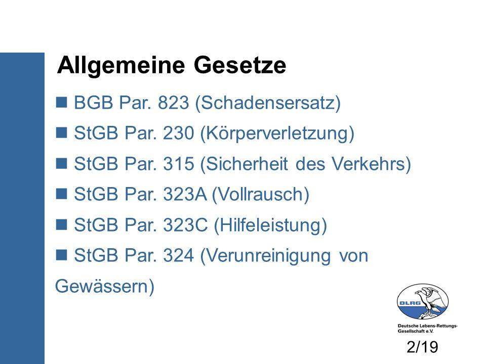 Normen DIN EN ISO 1217 Kleine Wasserfahrzeuge DIN 7670 ff.