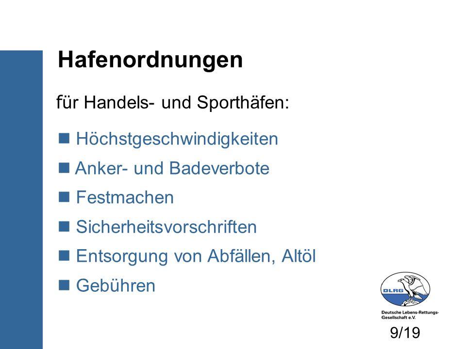 Örtliche Ordnungen zum Beispiel: Rechtsverordnung der Gemeinde Weingarten (Baden) über die Benutzung des Baggersees Landratsamt KA: Sondernutzungserlaubnis zum Befahren des Baggersees...