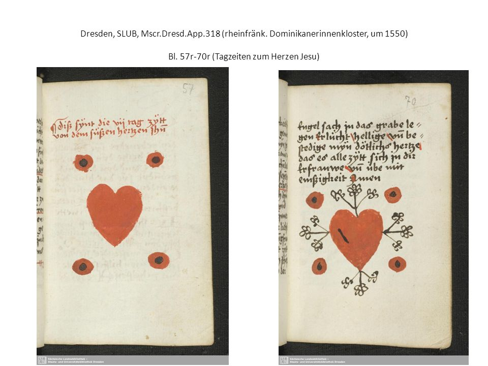 Dresden, SLUB, Mscr.Dresd.App.318 (rheinfränk. Dominikanerinnenkloster, um 1550) Bl.