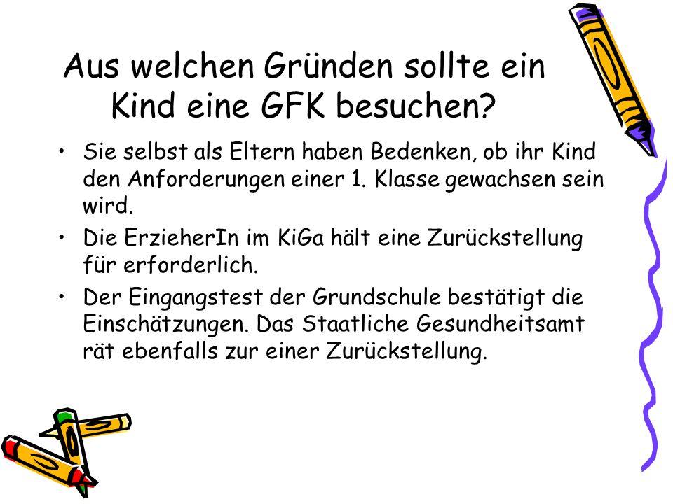 Für diese Kinder ist eine GFK eine gute Wahl: Das Kind ist ängstlich und hat zu wenig Selbstvertrauen.