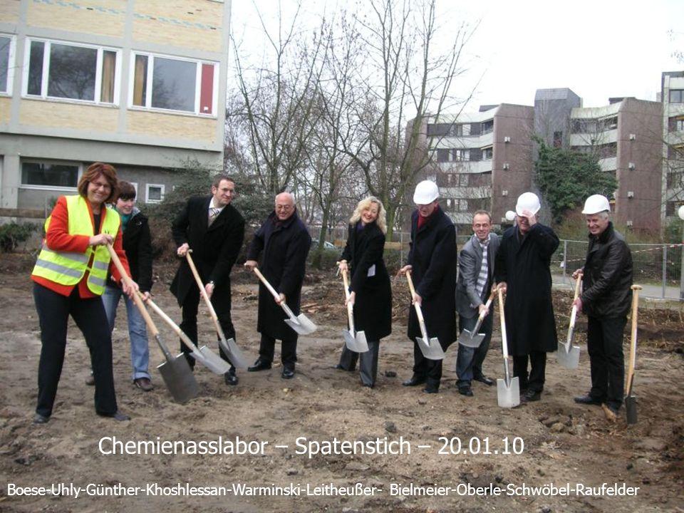Boese-Uhly-Günther-Khoshlessan-Warminski-Leitheußer- Bielmeier-Oberle-Schwöbel-Raufelder Chemienasslabor – Spatenstich – 20.01.10