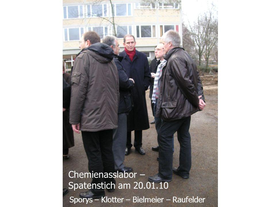 Sporys – Klotter – Bielmeier – Raufelder Chemienasslabor – Spatenstich am 20.01.10