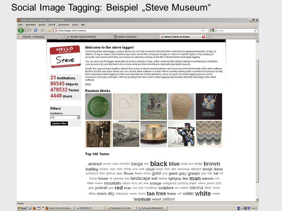 Social Image Tagging: Beispiel Steve Museum