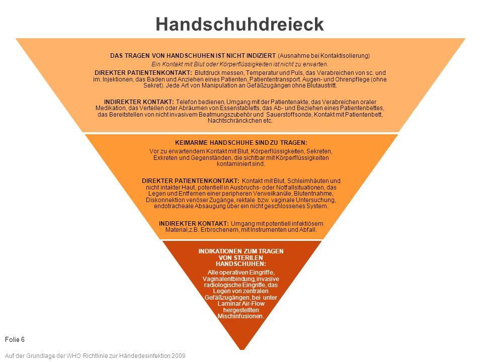 www.aktion-sauberehaende.de | ASH 2011 - 2013 Bettenführende Einrichtungen Keine Chance den Krankenhausinfektionen Das Tragen von Handschuhen ersetzt nicht das Desinfizieren, bzw.