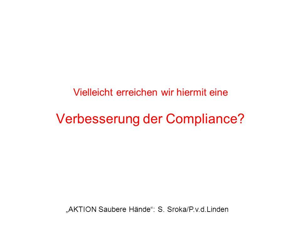 Vielleicht erreichen wir hiermit eine Verbesserung der Compliance? AKTION Saubere Hände: S. Sroka/P.v.d.Linden