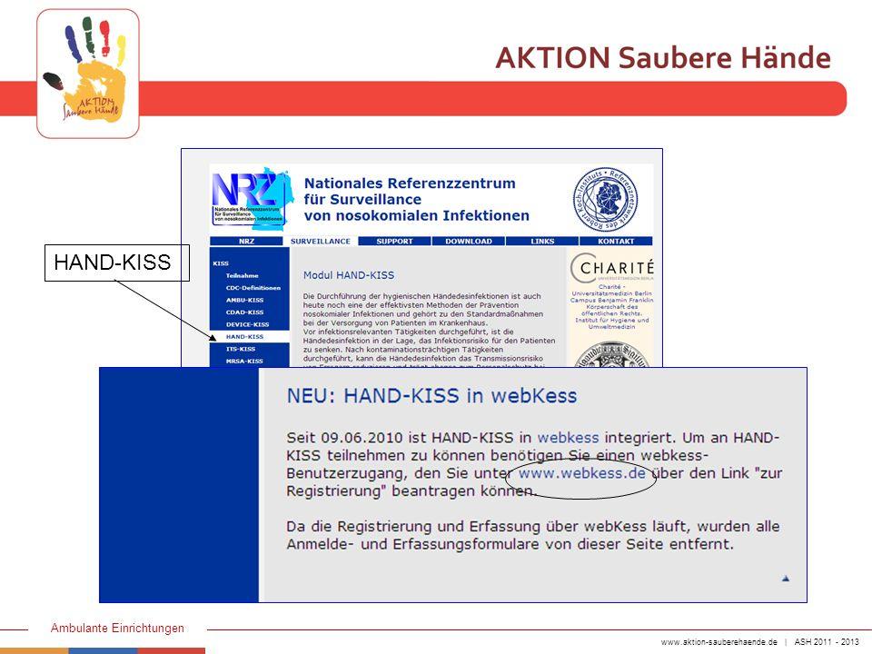 www.aktion-sauberehaende.de | ASH 2011 - 2013 Ambulante Einrichtungen Neuer Eintrag des teilnehmenden Bereiches