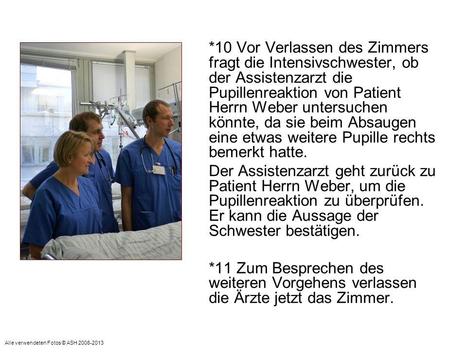 Visite auf der Intensivstation Zwei Ärzte betreten ein Patientenzimmer (2-Betten).