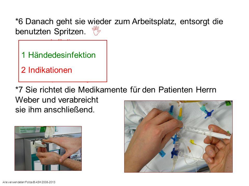 = Indikation: Vor aseptischer Tätigkeit Indikation: Nach Patientenkontakt/ Nach infektiösen Materialien 1 Händedesinfektion 2 Indikationen *7 Sie rich