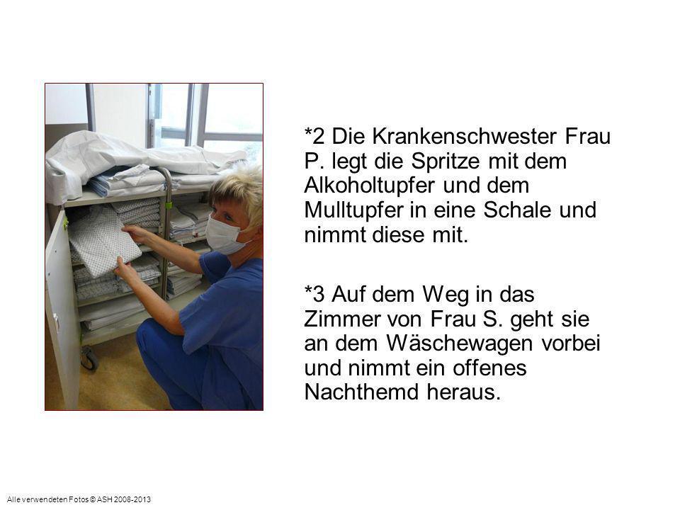 *4 Krankenschwester Frau P.geht jetzt in das Zimmer von Patientin Frau S.