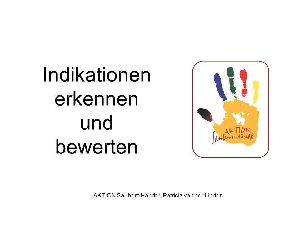 Bitte entscheiden Sie ob eine Indikation zur Händedesinfektion (HD) gegeben ist und wenn ja, mit welcher Indikation