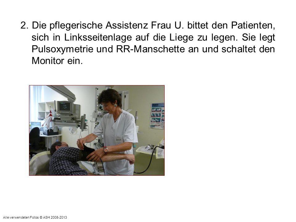 13.Nach der Untersuchung wird der Beißring von der pflegerischen Assistenz Frau U.