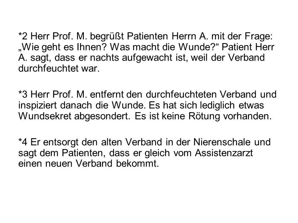 *5 Herr Prof.M. begrüßt Patienten Herrn B.