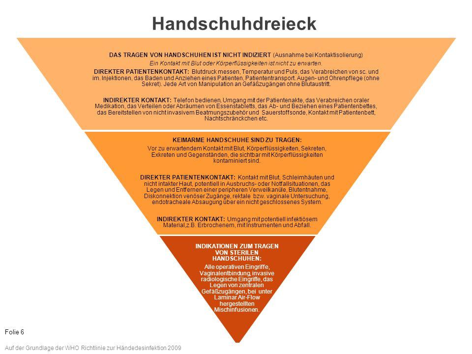 www.aktion-sauberehaende.de | ASH 2011 - 2013 Ambulante Einrichtungen Das Tragen von Handschuhen ersetzt nicht das Desinfizieren, bzw.