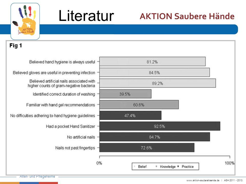 www.aktion-sauberehaende.de   ASH 2011 - 2013 Alten- und Pflegeheime Literatur
