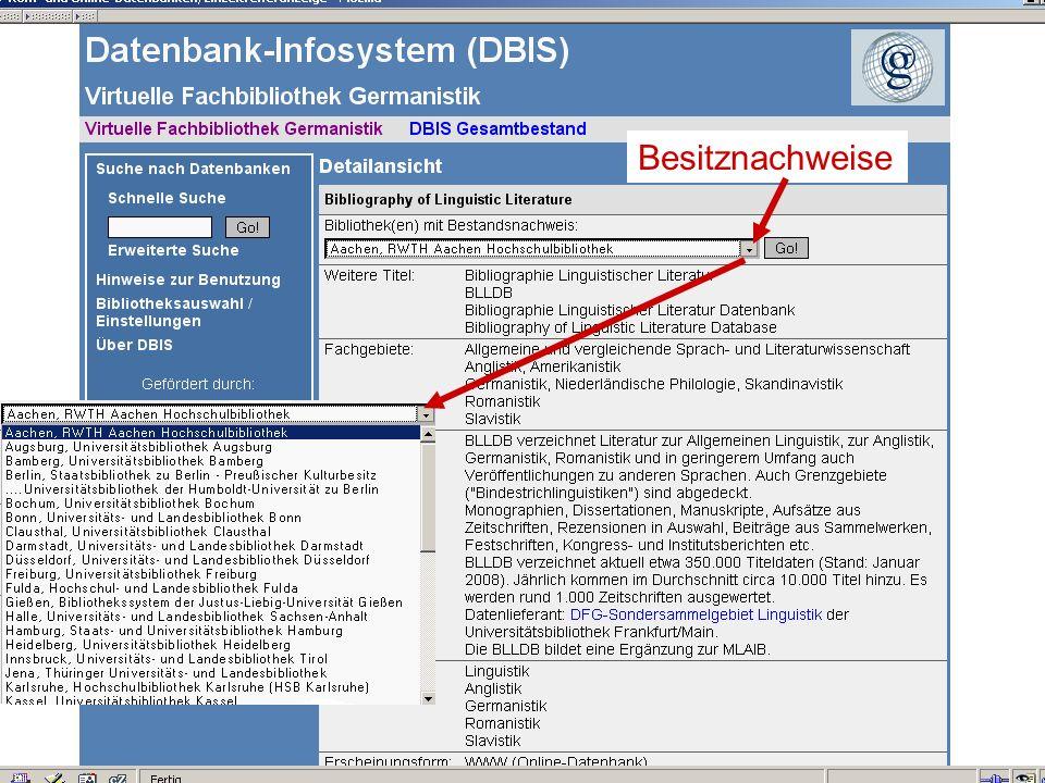 12.06.2008VDB-Fortbildung Rostock26 Besitznachweise