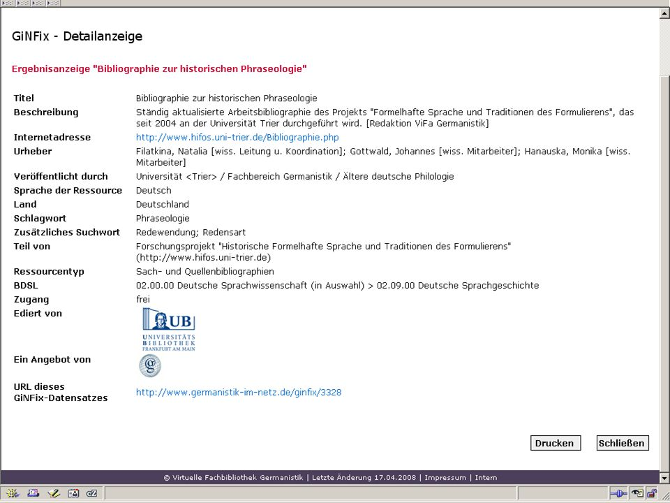12.06.2008VDB-Fortbildung Rostock31