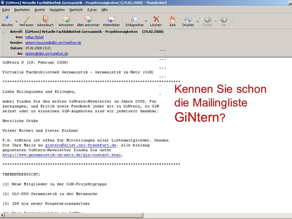 12.06.2008VDB-Fortbildung Rostock47 GiNFix-Suchzeile lokal einbinden Service -Seite