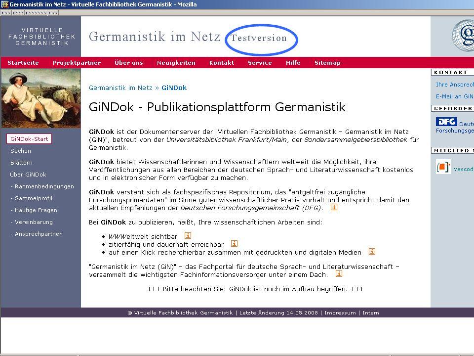 12.06.2008VDB-Fortbildung Rostock49 GiNDOk