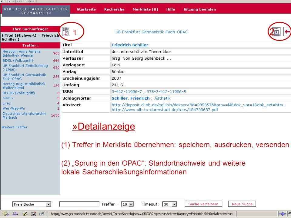 24.9.2007 Deutscher Germanistentag Marburg 30 Besitznachweise