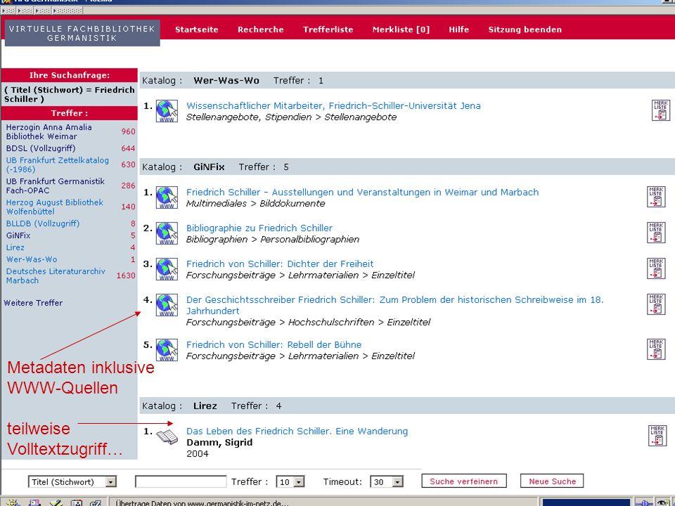 04.09.2007GSLG - German Studies Day10 …sowie Nachweis auch unselbständiger Schriften