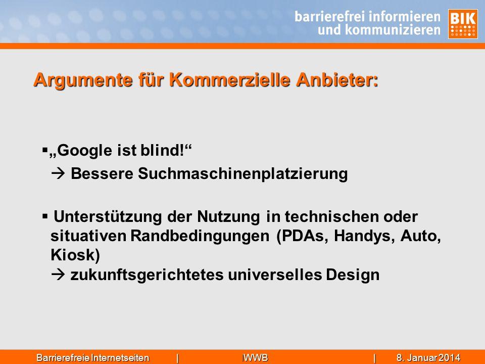 IWWB| 8. Januar 20148. Januar 20148. Januar 2014Barrierefreie Internetseiten | Google ist blind! Bessere Suchmaschinenplatzierung Unterstützung der Nu