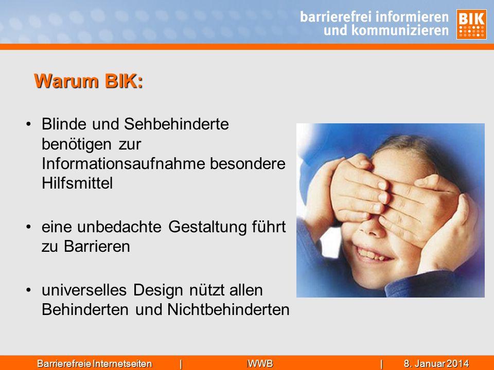 IWWB| 8. Januar 20148. Januar 20148. Januar 2014Barrierefreie Internetseiten | Blinde und Sehbehinderte benötigen zur Informationsaufnahme besondere H
