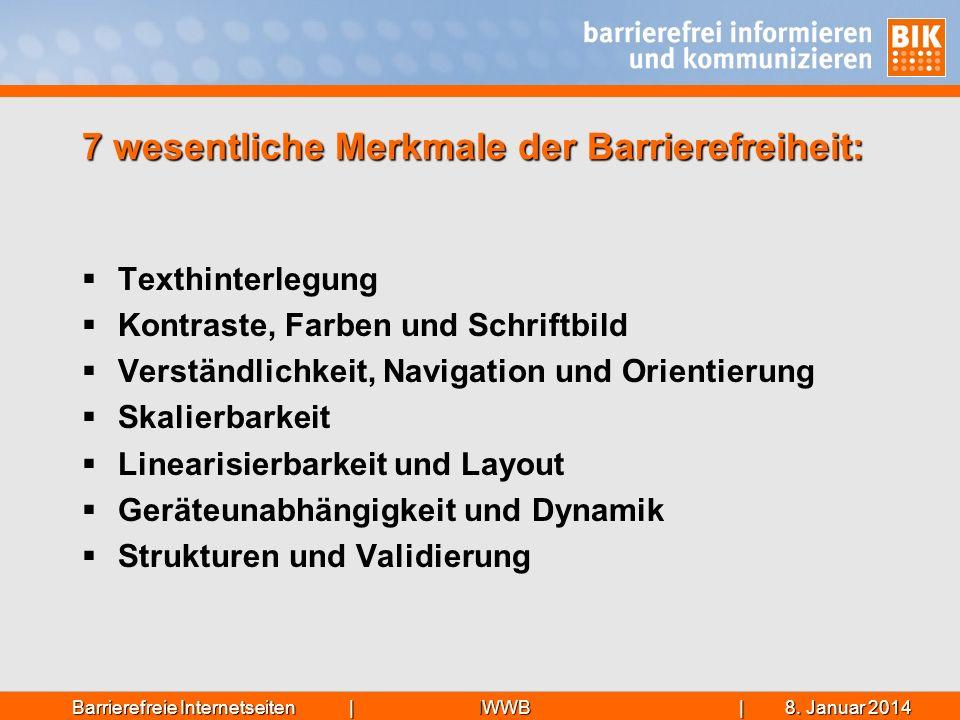 IWWB| 8. Januar 20148. Januar 20148. Januar 2014Barrierefreie Internetseiten | 7 wesentliche Merkmale der Barrierefreiheit: Texthinterlegung Kontraste