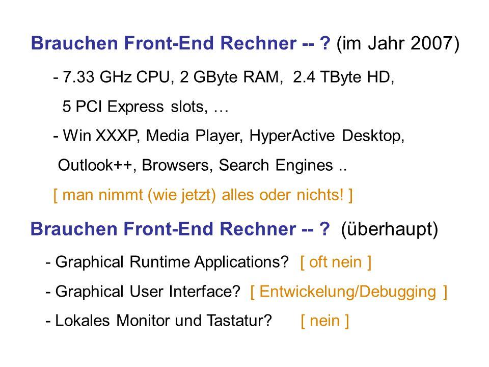 Brauchen Front-End Rechner -- .