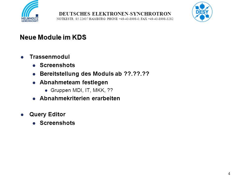 5 5 DEUTSCHES ELEKTRONEN-SYNCHROTRON NOTKESTR.85 22607 HAMBURG PHONE +49-40-8998-0.