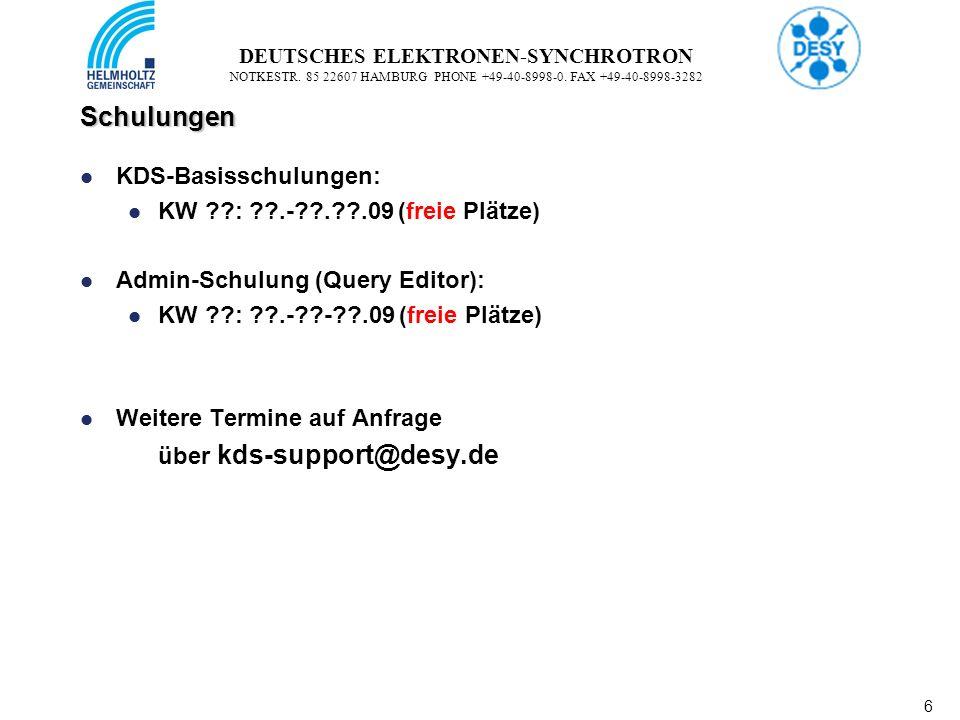 6 6 DEUTSCHES ELEKTRONEN-SYNCHROTRON NOTKESTR. 85 22607 HAMBURG PHONE +49-40-8998-0.