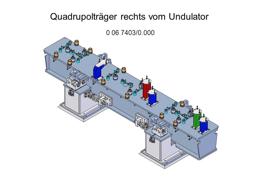 Quadrupolträger rechts vom Undulator 0 06 7403/0.000