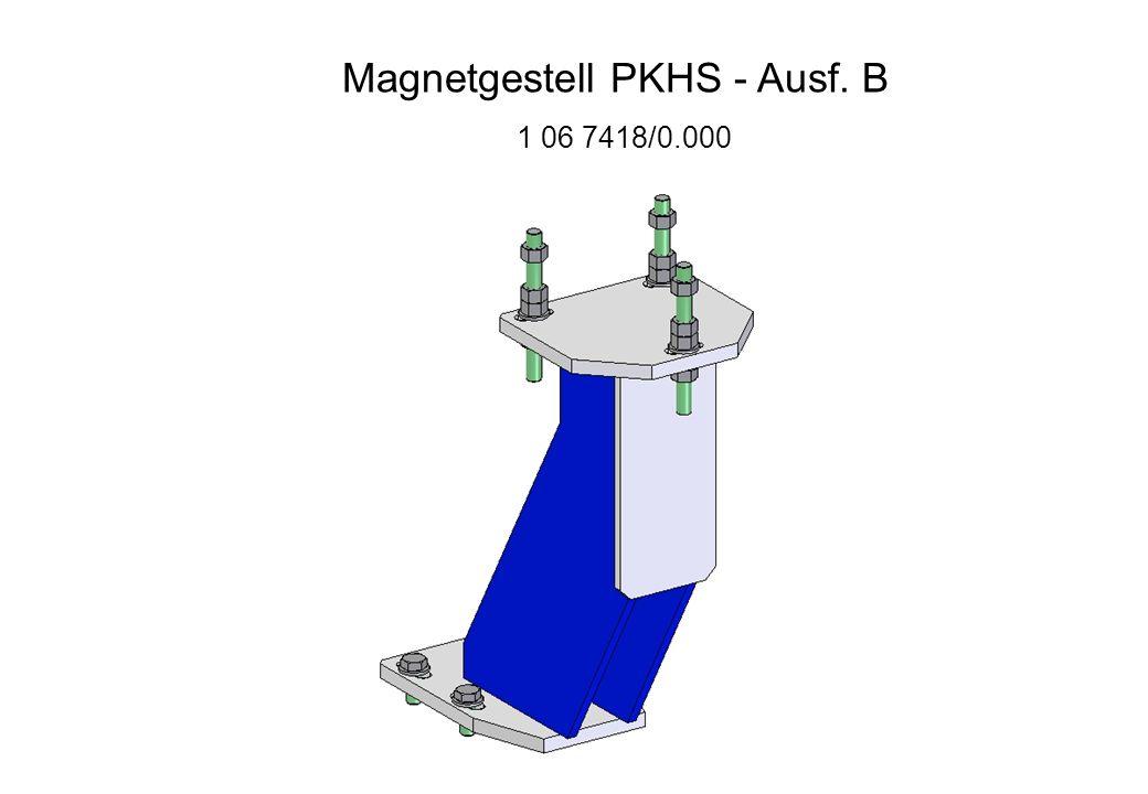 Magnetgestell PKHS - Ausf. B 1 06 7418/0.000
