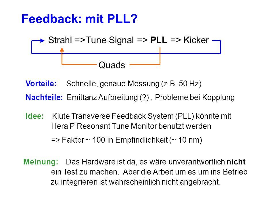 Feedback: mit PLL.