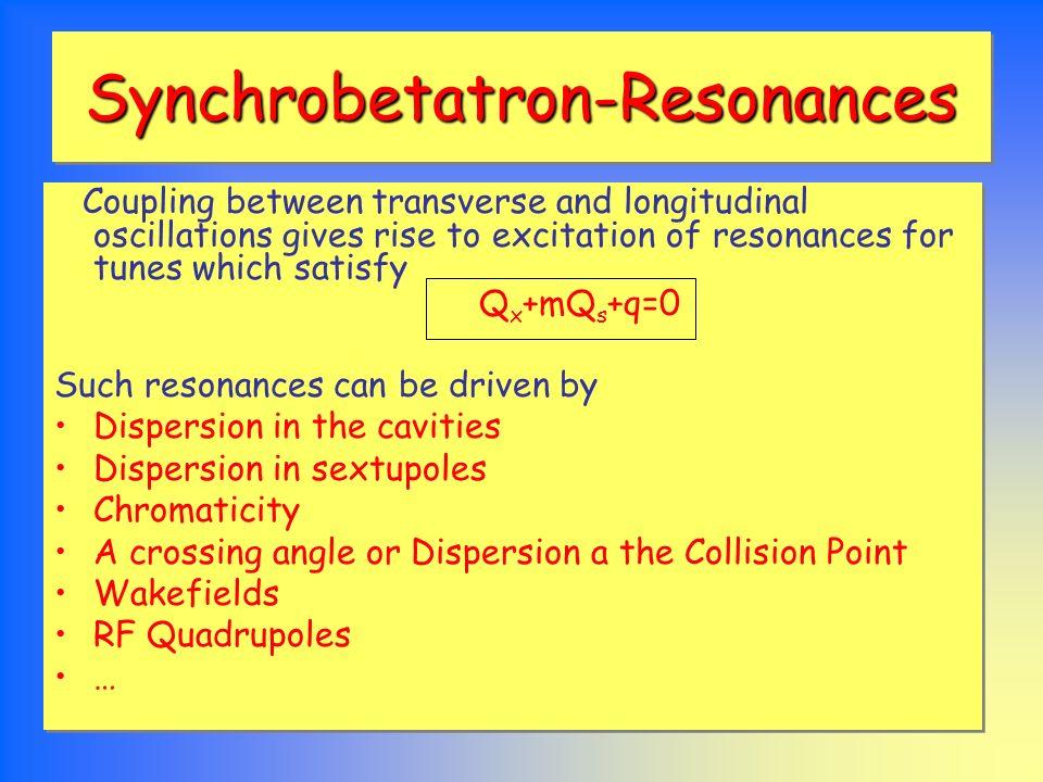 Resonance Optics 3Q x QxQx Q x +2Q y Q x -2Q y Q x +0Q y 2Q x +Qs Helum72gj776316722892232231 Helum72sm252733039832101470 Helumv688161759239492990 Comparison of sextupole driven transverse resonances for one sigma transverse, full coupling and width of horizontal half integer stopband for 10 sigma long.