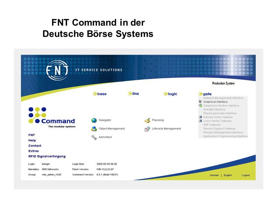 FNT Command in der Deutsche Börse Systems