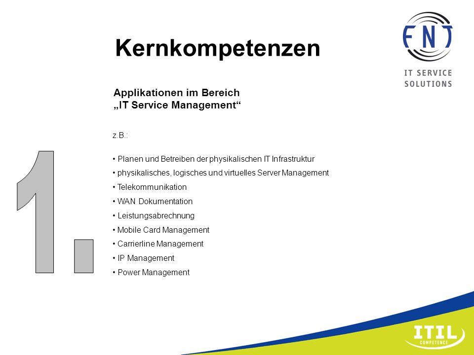 z.B.: Planen und Betreiben der physikalischen IT Infrastruktur physikalisches, logisches und virtuelles Server Management Telekommunikation WAN Dokume