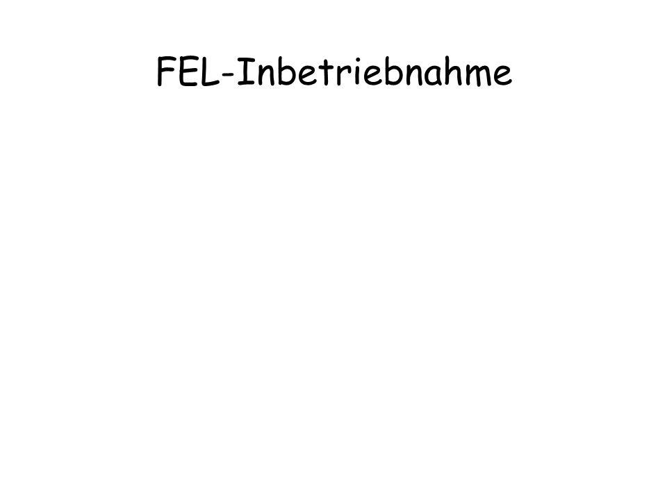 FEL-Inbetriebnahme