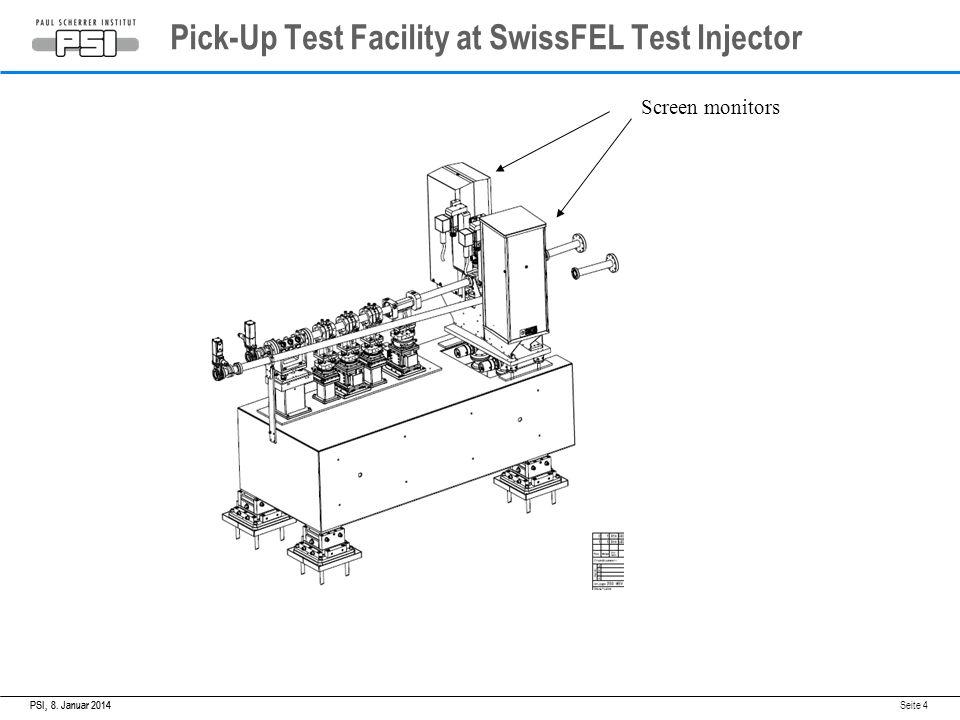 8. Januar 2014PSI,8. Januar 2014PSI, Seite 4 Screen monitors Pick-Up Test Facility at SwissFEL Test Injector