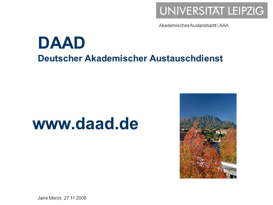 Akademisches Auslandsamt | AAA Jahres- und Semesterstipendien für alle Fächer WELTWEIT.