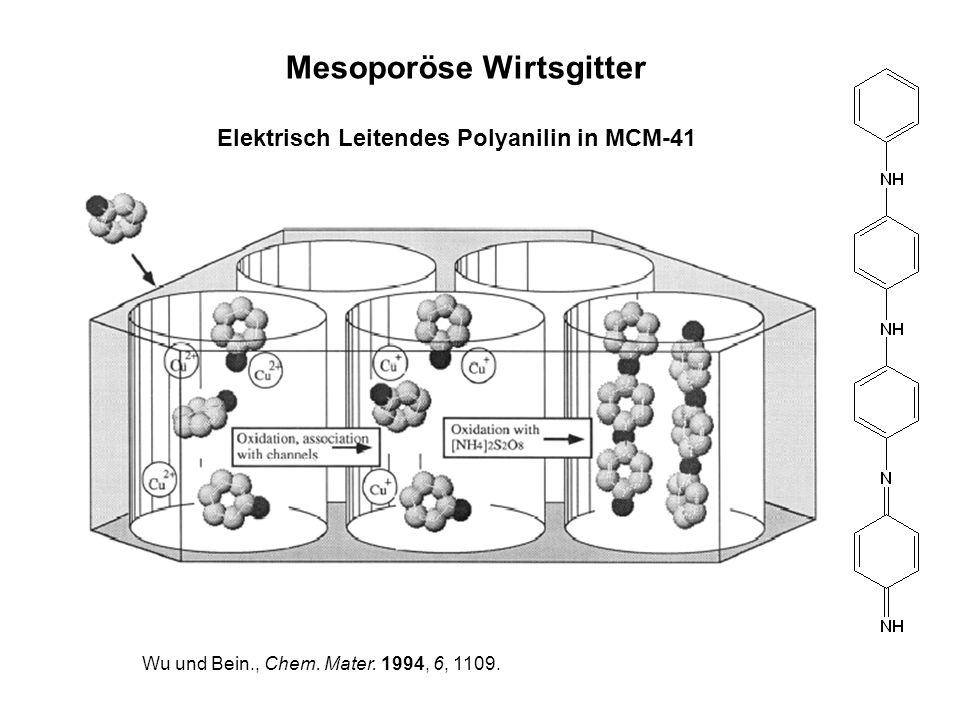 Wu und Bein., Chem. Mater. 1994, 6, 1109. Elektrisch Leitendes Polyanilin in MCM-41 Mesoporöse Wirtsgitter