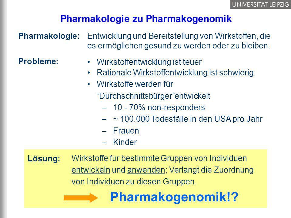 4/37 Pharmakologie zu Pharmakogenomik Wirkstoffentwicklung ist teuer Rationale Wirkstoffentwicklung ist schwierig Wirkstoffe werden für Durchschnittsb