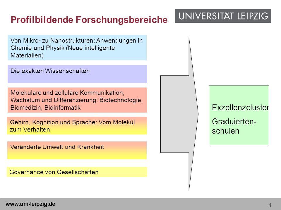 4 www.uni-leipzig.de Von Mikro- zu Nanostrukturen: Anwendungen in Chemie und Physik (Neue intelligente Materialien) Die exakten Wissenschaften Molekul