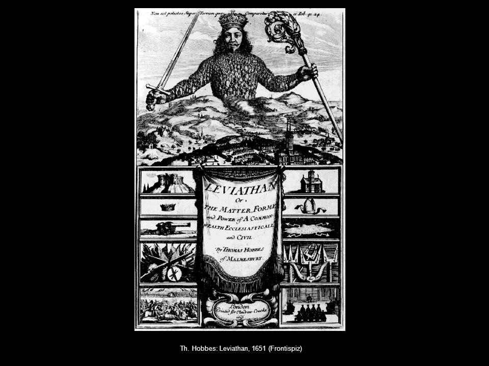 Th. Hobbes: Leviathan, 1651 (Frontispiz)