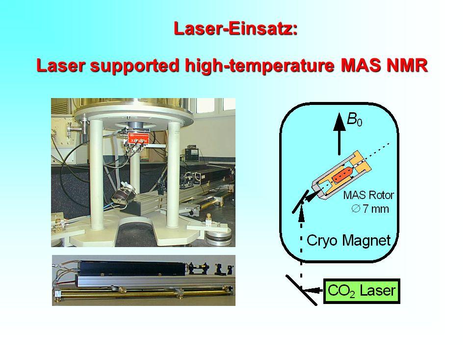 Laser-Einsatz: Laser supported high-temperature MAS NMR