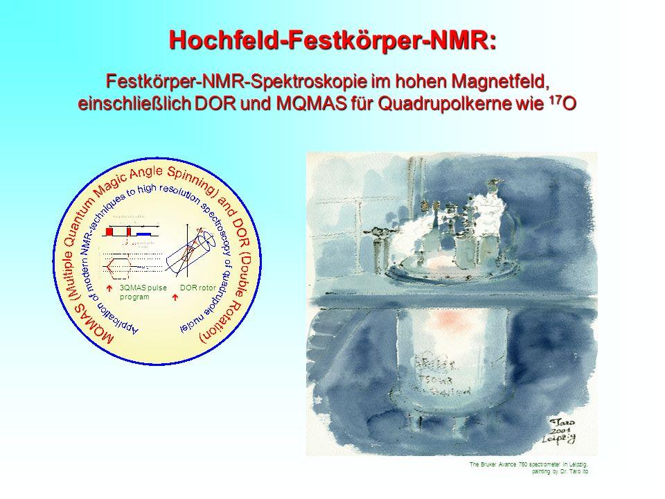 Hochfeld-Festkörper-NMR: Festkörper-NMR-Spektroskopie im hohen Magnetfeld, einschließlich DOR und MQMAS für Quadrupolkerne wie 17 O The Bruker Avance