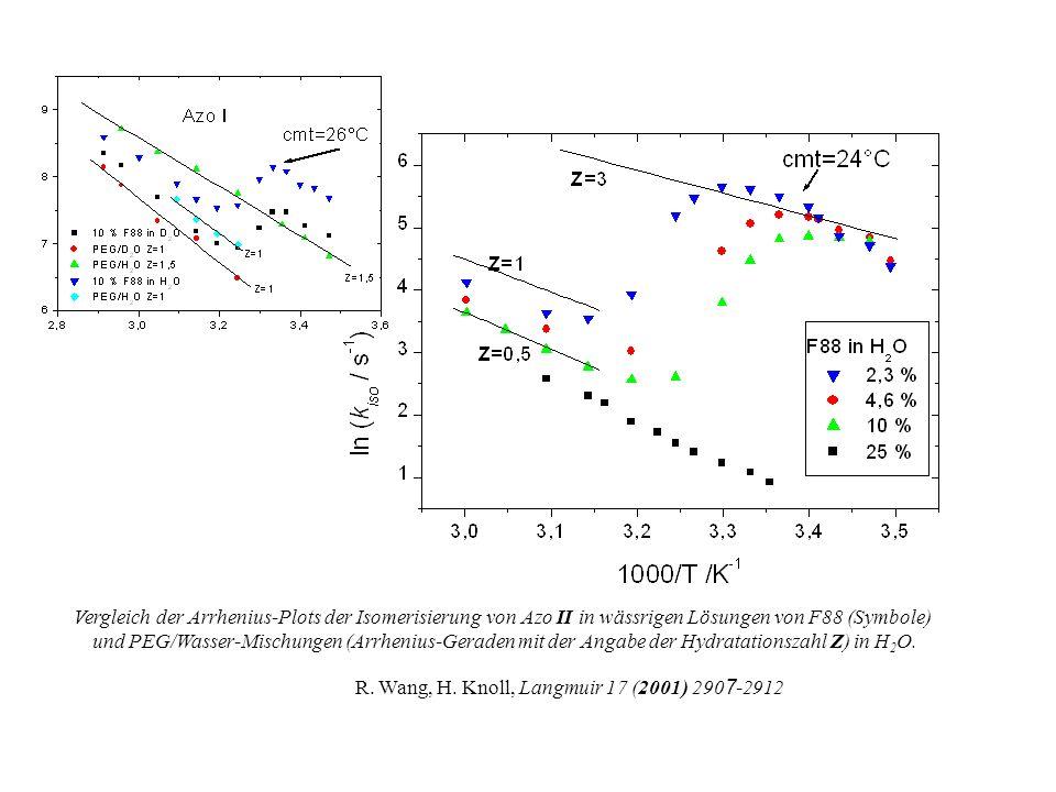 Dynamischer H-Brückenbindungseffekt bei gleichzeitigem Bruch der H-Brücke am Amino-N und Knüpfung der H-Brücke am Nitro-O findet eine Elektronenversch