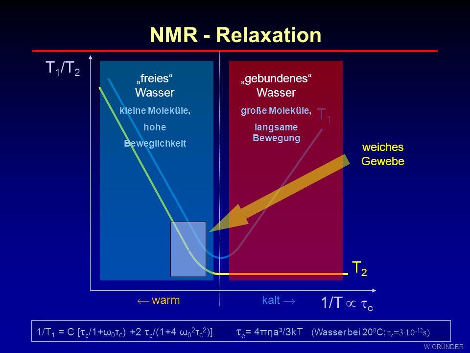 W.GRÜNDER Nur zur internen Verwendung durch Teilnehmer an der Wahlfachvorlesung 1 Methoden der NMR-Bildgebung und Spektroskopieder Universität Leipzig