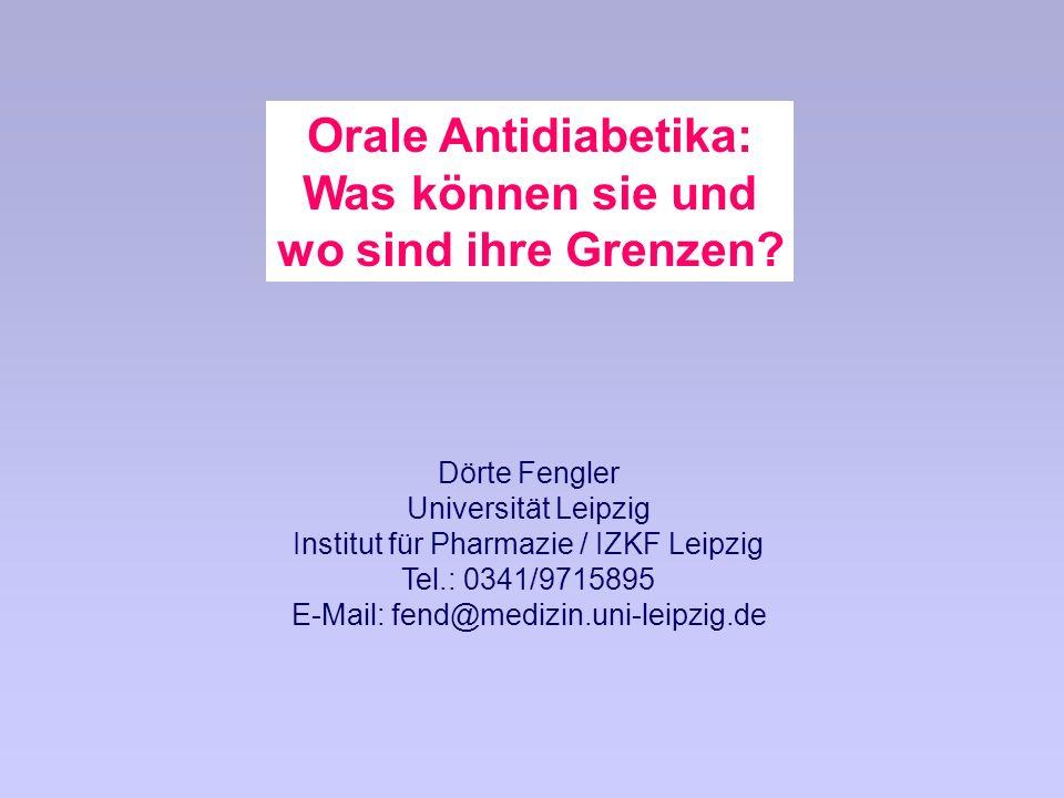Orale Antidiabetika: Was können sie und wo sind ihre Grenzen.